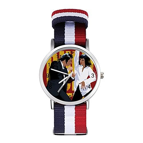 Pulp Fiction Reloj de ocio para adultos, moderno, hermoso y personalizado aleación Shell Casual Sports Reloj de pulsera para hombres y mujeres