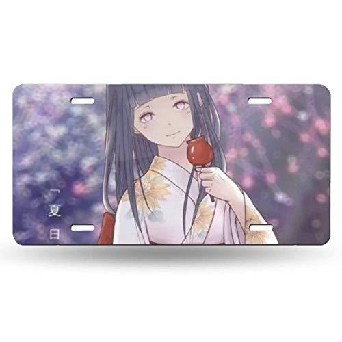 Suzanne Betty Aluminum License Plates - Naruto Hyuuga Hinata License Plate Tag Car Accessories 12 X 6 Inches