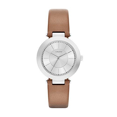 DKNY Damen Analog Quarz Uhr mit Leder Armband NY2293