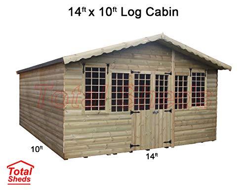Total Sheds 14ft (4.2m) x 10ft (3m) Summer House Log Cabin Ultimate Cabin