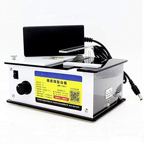 ミニプレシジョンテーブルソー手動木工ワークベンチDIYモデルクラフトカッティングツール電動テーブルソーグラインダー24V7A 9000RPM (組み合わせE)