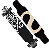 Fengyj Longboard 47' /Origine/érable 9 Plis/ABEC Haute Vitesse/Roues 70x51mm / Freestyle/Charge Max 250 kg/pour Débutant & Pro,Action