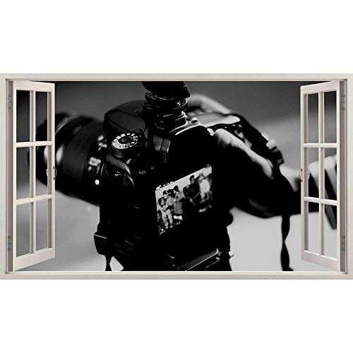 Photography Camera Hobby Work Wall Sticker Bedroom 3D Kids Room Vinyl Sticker Living Room