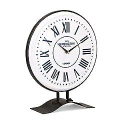 IMAX Fenton Table Clock White