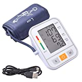 Accurate Digital Automatic Blood Pressure Monitor Upper Arm Cuff for Home with BP Monitors Pulse Hypertension Measurement Larger Cuff 2 Users for Elderly LCD Display