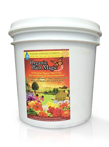 Plant Magic Plant Food 100% Organic Fertilizer - Easy to Use All Purpose for Indoor Houseplants, Outdoor Flowers, Tomatoes and All Vegetables and Trees (Also Known as Instant Compost Tea) 5 lbs