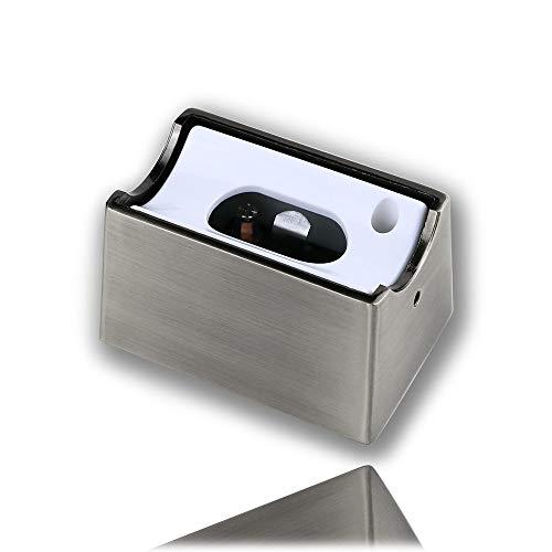 Fassung S14d Linienlampe für Osram Linestra Ralina Sockel Metall 35W & 60W nickel matt satin edelstahl Ledinestra