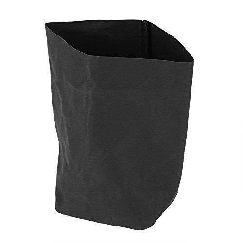 Zerodis kraftpapieren zak, zwart, wasbaar, multifunctionele bloempot, herbruikbaar, herbruikbaar, opbergtas