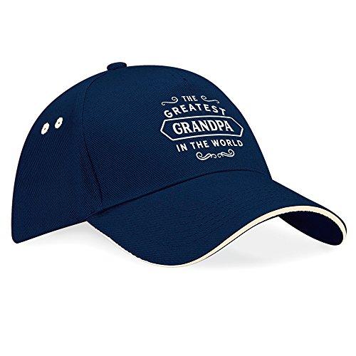Gorro de cumpleaños o Navidad, regalo de cumpleaños, regalos para hombres, Worlds Greatest Grandpa, gorra de béisbol talla única azul marino