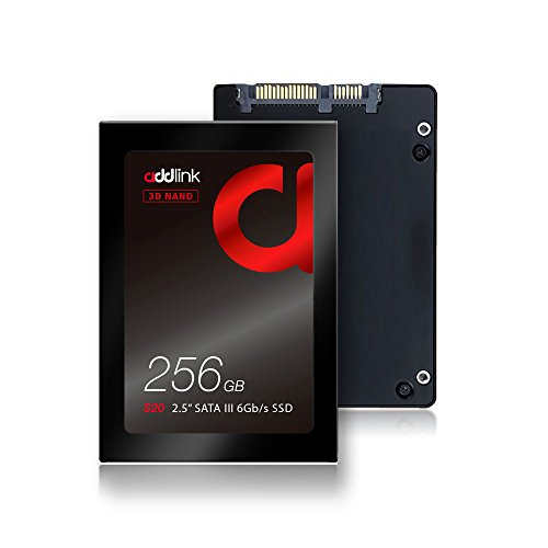 """addlink Internal SSD 256GB S20 2.5"""" 3D NAND SSD up to 510MB/s SATA III 6Gb/s Read 510MB/s Write 400MB/s 2.5inch Internal Solid State Drive"""