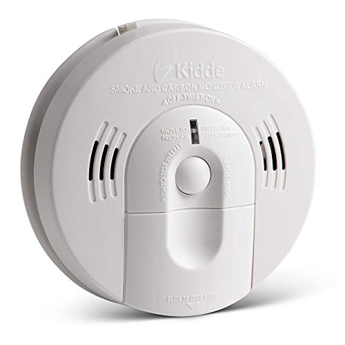 Kidde 21026043 Battery-Operated (Not Hardwired) Combination Smoke/Carbon Monoxide Alarm with Voice Warning KN-COSM-BA Pack of 4