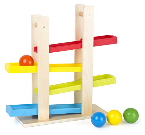 Small Foot 11195 Kugelbahn kompakt Spielzeug, Mehrfarbig