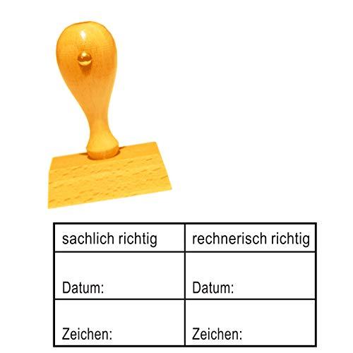 Stempel Bürostempel SACHLICH + RECHNERISCH RICHTIG Tabelle - Buchungsstempel Kontierungsstempel