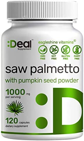 Saw Palmetto Supplement 1000mg with Pumpkin Seed Powder Advanced Prostate Supplement Healthy product image