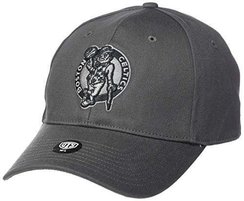 OTS NBA Boston Celtics Men's Comer Center Stretch Fit Hat, Charcoal, Large/X-Large