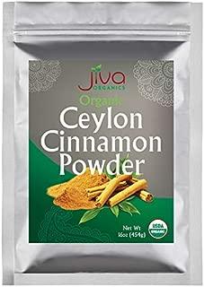 Organic Ceylon Cinnamon Powder 1 LB Bulk - Ground Raw, Non-GMO for Cooking & Baking - From a USDA Certified Organic Farm - True Cinnamon from Sri Lanka by Jiva Organics