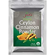 Organic Ceylon Cinnamon Powder 1 LB Bulk - Ground Raw, Non-GMO for Cooking & Baking - From a USDA Certified Organic Farm - True Cinnamon from Sri Lanka by Jiva Organics