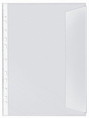 Veloflex 5340000 Dokumentenhüllen DIN A4, PP, 130my, dokumentenecht, transparent (2 x 10er Packung = 20 Hüllen)