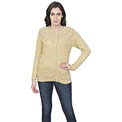 Matelco Womens Woollen Full Sleeves Self Designing Short Cardigan