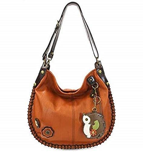 Chala Purse Handbag Hobo Cross Body Convertible Hedgehog Orange Bag