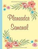 Planeador Semanal: Agenda, Semanal Diario Juro Palabra Organizador personal Progreso, Rastreadores, Notas y Informe semanal
