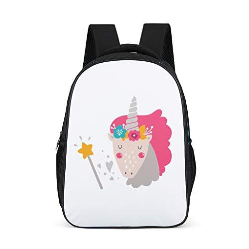 Dofeely Dierenprints Teenager dagrugzak met brede en comfortabele riemen tas meisjes en jongen draagtas voor reizen 32 * 18 * 42 centimeter illustratie
