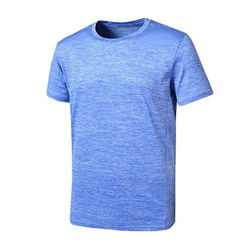Camiseta de manga corta para hombre de secado rápido. azul XL