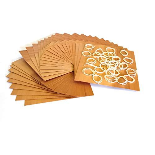 Masterpiece - BBQ Grillpapier Birne Set à 30 STK. Wood Wraps Grillfurnier aus Birnenholz in Premium Qualität Räucherfurnier Wood Paper Maße: 190 x 170 mm Wood Paper