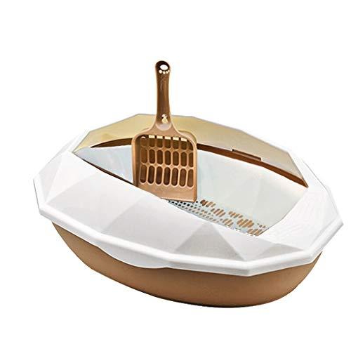 Toilette per Gatti personalità della Ciotola for lettiera for Gatti Completamente Chiusa Creativa con Pedale Cat Toilet Casa for Esterni Grande Spazio Moda Cat Litter Bowl Bacino di Sabbia per Gatti
