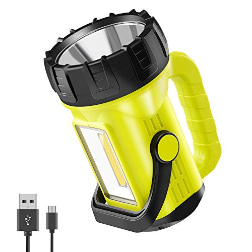 Anhay LED Lantern Flashlight, 1000 Lumen Rechargeable Camping Spotlight with 4000mAh Power Bank, IPX4 Waterproof, 10 Light Modes for Hurricane Emergency, Hiking and Home