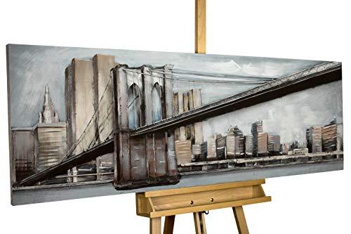 KunstLoft® Metallbild 'Brückenband' 150x50x6cm handgefertigt Wanddeko