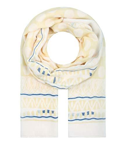 Majea Schal Damen Tuch Kopftuch Halstuch Schals und Tücher mit Muster Stola (gelb 32)