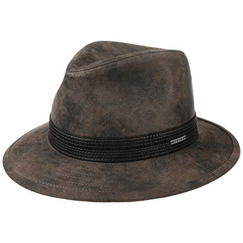 Stetson Sombrero de Piel Jacky Pigskin Hombre - con Forro Verano/Invierno - M (56-57 cm) marrón