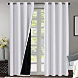 Double Layer 100% Blackout Curtains for Bedroom 84...
