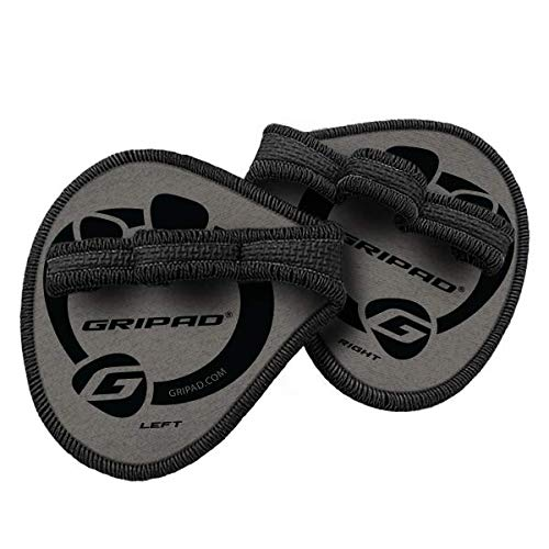 Gripad Classic Workout Grips | The Alternative to Weight Lifting Gloves, Gym Workouts, WOD, Weightlifting & Fitness (Grey)