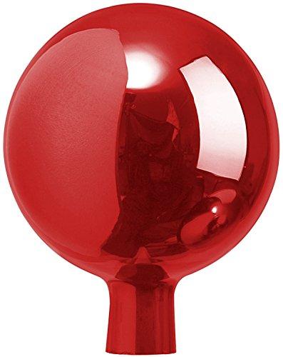 Windhager Rosenkugel Gartenkugel Sonnenfänger-Kugel, Glas-Deko für Garten und Terrasse, Winterfest, rot, 16 cm, 07808