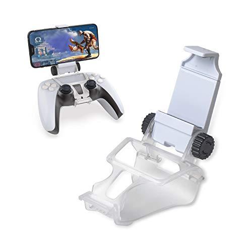 Jinhuaxin PS5 Controller Phone Mount Clip, Soporte para Teléfono Móvil Ajustable para Usar con PS5 Mandos de Juegos