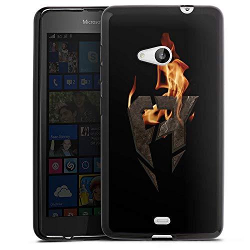 DeinDesign Silikon Hülle kompatibel mit Microsoft Lumia 535 Dual SIM Hülle schwarz Handyhülle Der Echte YouTube Gamer