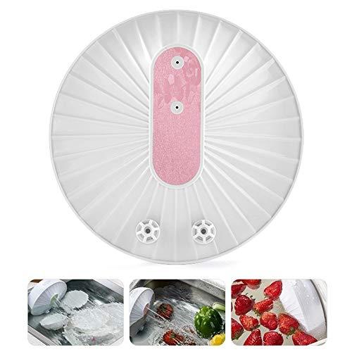 Tienda Exclusiva Diaria del hogar Limpiador de Frutas de Carga USB portátil de Lavavajillas Mini-Ultrasonic, envases domésticos (Champagne Gold) (Color : Pink)
