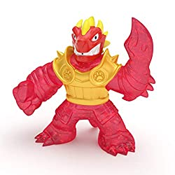 """Heroes of Goo Jit Zu are back to battle All new super squishy stretchy heroes now with new fillings and new weapon fists! Blazagon the Dragon is back and is super gooey When you squish him his sparkly red insides bulge out Now with new """"Water Blast A..."""