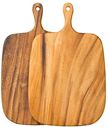 Tabla de cortar con asa, placa de doble cara para cortar pizza, pan, frutas, verduras, tabla de servir queso.