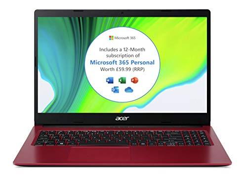 Acer Aspire3 A315-34-Intel Dual Core, 4GB Ram, 128GB SSD, 15.6' Full HD screen, Windows 10 S Laptop Red