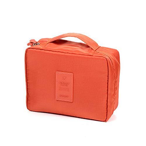 YAOG Sac de rangement cosmétique de sac de toilette de grande capacité de voyage de Multi-fonction, Orange