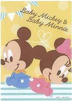 ベビーミッキー&ベビーミニー[下敷き]/おすわり ディズニー