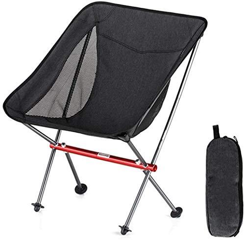 Lanrui Portátil compacto al aire libre plegable silla de aleación de aluminio apoyo cómodo transpirable resistente duradero para la familia balcón jardín apartamento silla plegable
