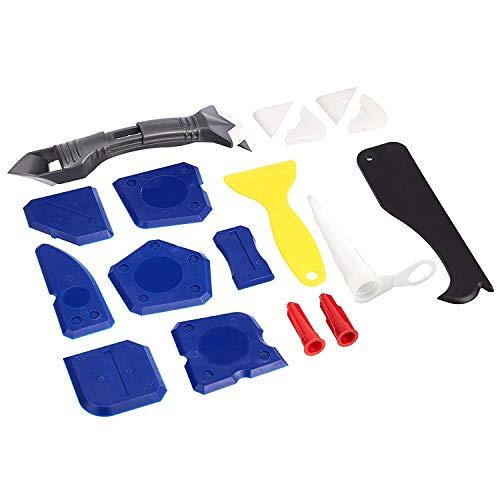 Amazon Basics - Set per sigillante e calafataggio, 18 pezzi
