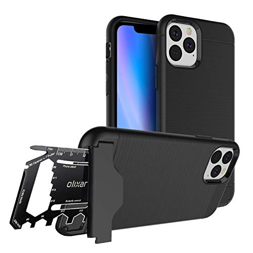 Olixar Tough Case for Apple iPhone 11 Pro, with 26 in 1 Survival Multi Tool - Protective Armour Cover - Credit Card Slot & Built in Stand - X-Ranger - Black