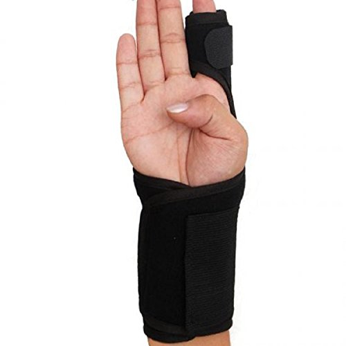 Index Finger Splint,Extension Hand Splint Medical Enhanced Thumb Fixed Sleeve Breathable Protective Wrist Cover Brace for Trigger/Mallet Finger, Rheumatoid Arthritis or Fractured Pain Relief (black1)