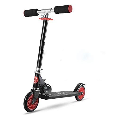 Lcxliga Scooter, Scooter de Dos Ruedas, Bicicleta Plegable (Adecuado for 4-8 años) (Color : Black)