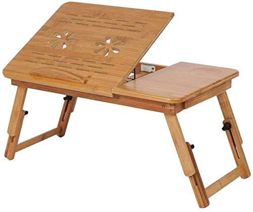 YSSJT 1 Unidad de Estante de bambú Ajustable para Dormitorio, Escritorio de Regazo, Bandeja de Lectura de Libros portátil, Soporte para Monitor, Mesa de Cama para Ordenador portátil